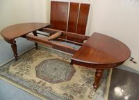 Mahogany extending dining table (5 of 8)