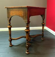 Outstanding William & Mary Style Leather & Stud Bound Country Oak Lowboy Table (4 of 18)