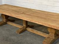 Enormous French Bleached Oak Farmhouse Dining Table (30 of 38)