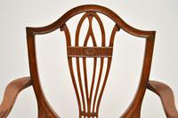 Set of 12 Antique Sheraton Style Shield Back Dining Chairs (11 of 15)