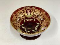 Antique Enamelled Ruby Glass Pedestal Dish c.1895 (6 of 6)