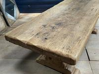 Superb Very Rustic French Oak Bleached Oak Farmhouse Dining Table (19 of 32)