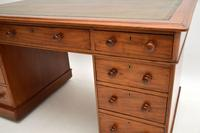 Antique Victorian Mahogany  Leather Top Pedestal Desk (5 of 11)