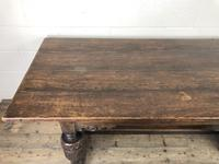 Antique Carved Oak Refectory Dining Table (9 of 15)