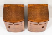 Pretty Pair of Walnut Art Deco Bedside Cabinets (4 of 7)