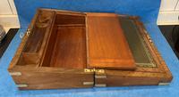 Victorian Brassbound Figured Walnut Writing Slope (17 of 18)