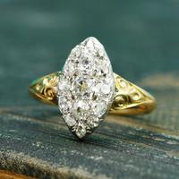 The Antique Late Victorian Marquise Fifteen Diamond Ring (3 of 5)