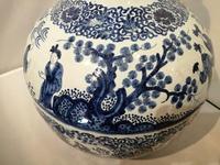 19th Century Blue & White Dutch Delft Flagon / Ewer (4 of 14)