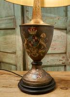 A Pair of Large Bronze Coloured Toleware Table Lamps (7 of 9)