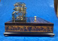 Victorian Rosewood & Tunbridge Ware Inkstand by Thomas Barton (19 of 24)
