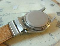 Vintage Wrist Watch Strap 1940s WW2 Military 16mm Brown Pig Skin Spring Loaded Ends Nos (8 of 12)