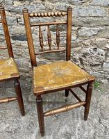 Set of 4 Antique Elm Country Chairs (12 of 13)