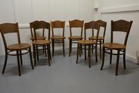Harlequin Set of 8 French Bistro or Cafe Bentwood Chairs (4 of 7)