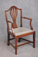18th Century Mahogany Hepplewhite Armchair (5 of 10)