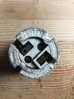 Vintage Simplex industrial circular pendant lights (10 of 11)