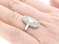 1.79 ct Diamond and 15ct White Gold Dress Ring - Antique Circa 1930 (3 of 9)