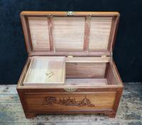 Early 20th Century Oriental Carved Teak and Camphor Wood Chest (2 of 12)