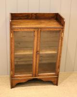 Small Proportioned Oak Glazed Bookcase (4 of 11)