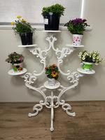 Victorian 19th Century Garden Cast Iron Painted White 6 Branch Plant Stand (44 of 47)