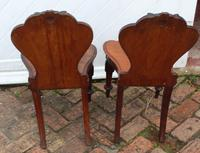 1920's Pair of Carved Mahogany Hall Chairs (3 of 3)