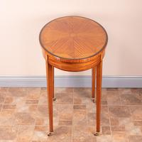 Inlaid Oval Satinwood Occasional Table (8 of 15)