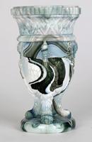 Sowerby / Edward Moore Marbled Slag Glass Gryphon Vase c.1880 (5 of 16)