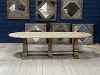Huge French Bleached Oak Monastery Dining Table (4 of 30)