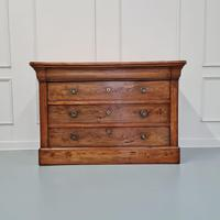 Beautiful Figured Elm French Commode c.1850 (2 of 9)