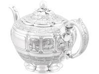 Sterling Silver Three Piece Zodiac Tea Service - Antique Victorian 1882 (9 of 24)