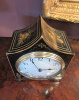 Small Antique Chinoiserie Gilt Mantel Clock (2 of 7)