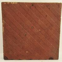 Craven Dunnill Encaustic Floor Tile with Gothic Pattern c.1860 (2 of 2)