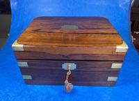 Victorian Brassbound Rosewood Writing Slope (10 of 20)