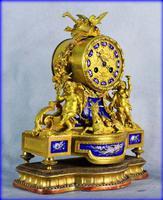 Fine Ormolu Porcelain Cherub Mantle Clock (10 of 10)