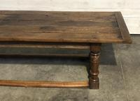 Very Early Oak Farmhouse Refectory Dining Table (5 of 31)