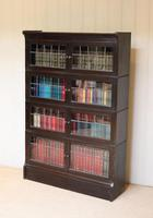 Dark Oak Sectional Stacking Bookcase (7 of 10)