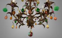 Murano Glass a Fruit Venetian 6 Arm Toleware Ceiling Light Chandelier (8 of 9)