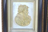 Pair of 19th Century Plaster Relief Plaques, Titled 'Petrus' & 'Paulus' (2 of 7)
