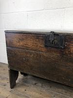 Early 18th Century Six Plank Oak Coffer (17 of 20)