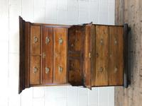 Early 19th Century Oak Secretaire Tallboy Chest on Chest (7 of 17)