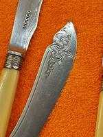 Antique Silver Plate Fish Knife & Fork Set, C1880 Harrison Brothers & Howson (7 of 11)