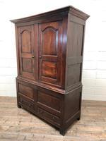 Large Antique 18th Century Welsh Oak Press Cupboard (M-808) (9 of 18)