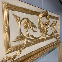 Large French Paint & Gilt Trumeau Mirror (2 of 11)