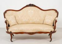 Victorian Mahogany Carved Settee (3 of 7)