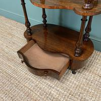 Quality Victorian Rosewood Antique Whatnot (8 of 9)