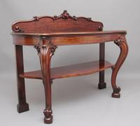19th Century Carved Mahogany Serving Table (2 of 9)