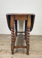 Early 20th Century Antique Oak Gateleg Table (7 of 8)