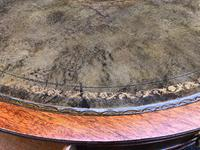 Quality Mahogany & Leather Drum Coffee Table (2 of 8)