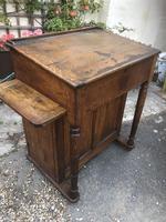 Antique Oak Clerk's Desk with Cupboard (6 of 11)