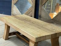 French or Scandinavian Bleached Oak Coffee Table (10 of 15)