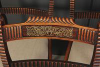 Set of 6 Regency Brass Inlaid Dining Chairs (4 of 16)